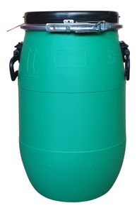 30 Liter Deckelfass, Kunststofffass, Fass, Plastikfass Weithalstonne Farbe grün (30 D grün)