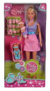 Simba Steffi Love BABY SITTER mit 2 Babies und Zubehör Modepuppe Ankleidepuppe