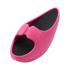 Damen Hausschuhe Damen Sport Hausschuhe-Halbe Handfläche Abnehmen Damen Hausschuhe-Körperformung Tensile Shake Shoe Slipper Größe Rosa S24.5x10x10.5CM