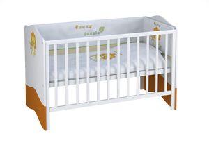 Polini Kids Kombi-Kinderbett Basic Jungle 140x70 wei-orange,1184-1