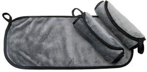 3er Set waschbare Abschminktücher Mikrofaser, grau