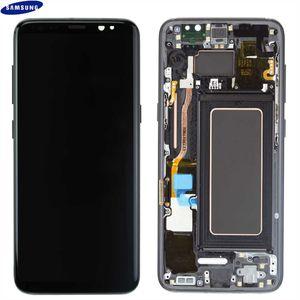 Original Samsung Galaxy S8 SM-G950F LCD Display Touch Screen Bildschirm GH97-20457A / GH97-20473A Schwarz