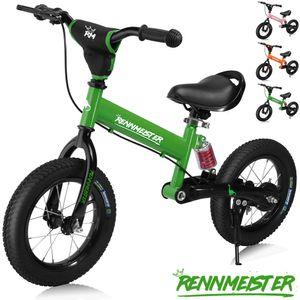Laufrad Rennmeister® Kinderlaufrad Kinder Lauflernrad Balance Bike Fahrrad 12', Farbe:dunkelgrün
