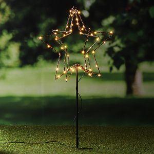 3D LED Stern mit 52 warmweißen LEDs 76496
