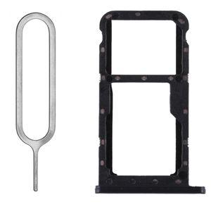 Huawei P20 Lite Sim/SD Karten Halter Sim Tray Holder Slot Einschub Schlitten Schublade Fach Adapter Halterung Schwarz + Sim Nadel