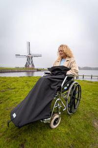 Belieff Rollstuhldecke - Fußsack - Unisex - Handtasche - Schwarz - 100% Polyester