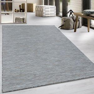 Flachgewebe Teppich Sisal Optik Indoor Outdoor Küche Balkon Braun Grau, Grösse:200x290 cm