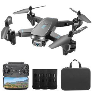 CSJ S173 RC Drohne mit Kamera 4K Dual Kamera WiFi FPV Faltbarer Quadcopter mit Funktion Flugbahn Flug Headless Modus 3D Flug Aufbewahrungstasche Paket 3 Batterie