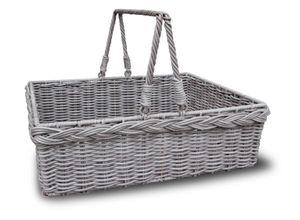 HABAU Picknickkorb mit Tragegriff und Filzboden, aus Polyethylen mit Metallrahmen