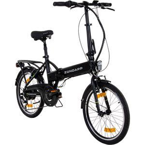 Zündapp Green 1.0 20 Zoll E-Klapprad, E Folding Bike, Elektrofahrrad, Farbe:schwarz matt