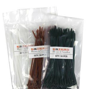 Kabelbinder 50x Befestigung für PVC Sichtschutzmatten Sichtschutz grün