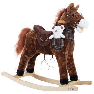 Schaukeltier Schaukelpferd Plüsch Schaukelspielzeug Wippe Kinder Baby Spielzeug, Tierart:Pferd