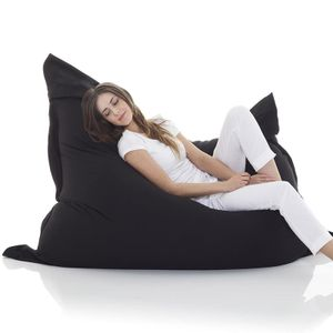 LOZAYI Riesensitzsack Bezug XXL Sitzsackbezug 140 x 180 cm Indoor Outdoor Schwaz
