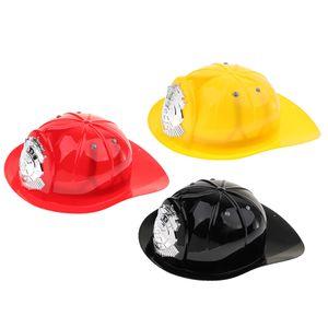 3pcs Feuerwehrhelm Feuerwehr Schutzhelm Hut Mütze Spielzeug für Kinder Rollenspiel