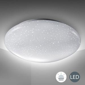 LED Deckenlampe inkl. 12W 1200 Lumen LED-Platine Sternenlicht Deckenleuchte Kaltweiss 230V IP20 Ø290mm B.K.Licht