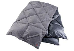 Yeti Duvet Blanket Kiby 200x140cm Daunendecke Rot Blau Schwarz Reisedecke, Farbe:Blau