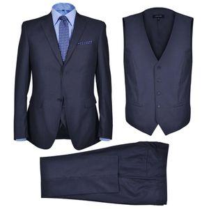 vidaXL Dreiteiliger Herren-Business-Anzug Größe 46 Marineblau