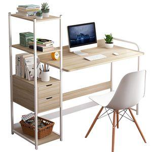Schreibtisch mit Regal Computertisch Schreibtisch Bürotisch Arbeitstisch 107x40x110cm Weiß