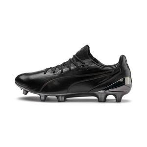 PUMA KING Platinum FG/AG Herren Low Boot Fußballschuhe Schwarz-Weiss Schuhe, Größe:42 1/2