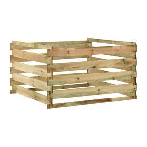 vidaXL Lattenrost-Komposter 120x120x70 cm Impr?gniertes Kiefernholz