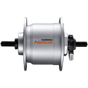 Shimano Nexus DH-C3000-3N-NT Nabendynamo Fahrradbeleuchtung 16 bis 28 Zoll Fahrrad Licht 6 V 3 Watt, Farbe:silber, Ausführung:36 Loch Mutterntyp