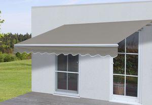 Alu-Markise HWC-E49, Gelenkarmmarkise Sonnenschutz 2,5x2m  Polyester, grau-braun