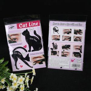 2Pcs Frauen Cat Line Pro Augen Make-up Tool Eyeliner Schablonen Vorlage Shaper Modell WTX70808483