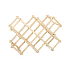 Flaschenregal - Harmonika-Design - Zusammenklappbar - Holz - Beige - Stabiles Design - Weinregal - 50x31x26cm