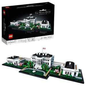 LEGO 21054 Architecture Das Weiße Haus, Modellbaussatz für Erwachsene, Set zum Stressabbau und eine tolle Geschenkidee