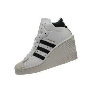 adidas Superstar Ellure W - Damen Plateau Schuhe Wedge Weiß FW0102 , Größe: EU 37 1/3 UK 4.5