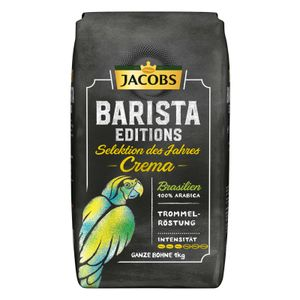 Jacobs Barista Editions Selektion des Jahres Brasilien, Bohnenkaffee, ganze Bohnen, Röstkaffee, Kaffeebohnen, 1000 g