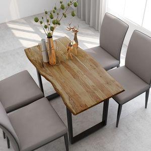 Chic® Esstisch Esszimmertisch Tisch Küchentisch Skandinavisch & stabil Wohnzimmertisch 118 x 58 x 76 cm Akazie-Massivholz
