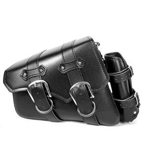 Motorrad-Seitentasche Motorrad-modifizierte Seitentasche Seitenbox und Seitenpaket Kit Haengetasche Motorrad-Satteltaschen Seitliche Werkzeugtasche Ledergepaeck Satteltasche Schwarz Universal