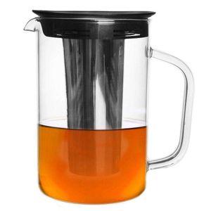 ORION Glaskanne Glaskrug Teekanne mit Teesieb 1,6l