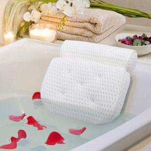 Badewannenkissen, Luxus Badewanne & Spa-Kissen mit 4D-Air-Mesh-Technologie und 7 Saugnäpfen. Stützfunktion für Kopf, Rücken, Schulter, Nacken. Geeignet für Badewannen, Whirlpools und Home SpaMarke: AmazeFan