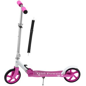 ArtSport Scooter Cityroller Big Wheel 205mm Räder klappbar & höhenverstellbar – Kinder-Roller ab 3 Jahre - Tretroller bis 100 kg – Pink