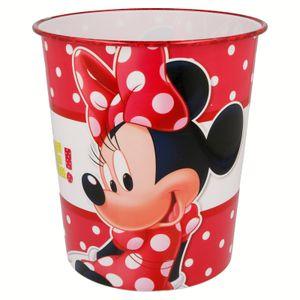 Minnie Maus Kinder Papierkorb Mülleimer Kunststoff Abfalleimer Eimer Minny Mouse