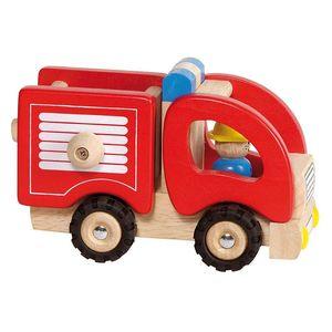 goki 55927 Feuerwehr, rot/natur