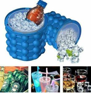 Sommer Ice Cube Maker Form Silikon Eis Eimer Platzsparende Ice Cub Tray Werkzeug