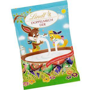 Lindt Eier gefüllt mit Doppelmilchcreme umhüllt von Schokolade 100g