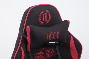 CLP Racing Bürostuhl Limit Stoff mit/ohne Fußablage, Farbe:schwarz/rot, Fußablage:mit Fußablage