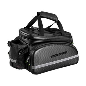 ROCKBROS Fahrrad Hinter Gepäckträgertasche 10-35L Fahrradgepäckträgertasche Wasserdicht