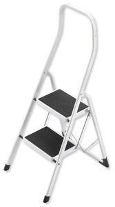 Hailo Haushaltsleiter Safety 2 Stahl-Stufen, weiss  Safety 4312-001