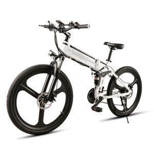 SAMEBIKE LO26 26 Zoll E-bike Elektrofahrrad 21 Geschwindigkeit 10AH 48V 350W Elektrofahrrad MTB Motor Faltbar-Weiß