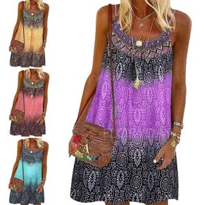 Damen Sommer Kurzarm Casual Party Kleid Boho Rock,Farbe: Gelb,Größe:L