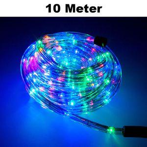 Trade-Shop LED Lichtschlauch Komplett Set mit Zubehör Lichterkette Beleuchtung RGB 10 Meter F3 LED für Drinnen/Draußen Weihnachten Beleuchtung Dekoration Lichterschlauch