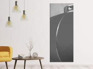 Leinwandbilder schwarz weiß 1Tlg 40x100cm Kirsche rot Baum Blumen Lampe China japanisch Garten Leinwandbild Kunstdruck Wand Bilder Vlies Wandbild Leinwand Bild Druck 9ZA2052, Leinwandbild Gr. 1:40cmx100cm