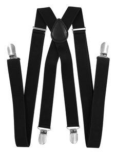 axy® Schwarz Herren Hosenträger 2,5cm breite mit 4 Stabile Clips X-Form länge verstellbar-Hochzeit-Business Outfit
