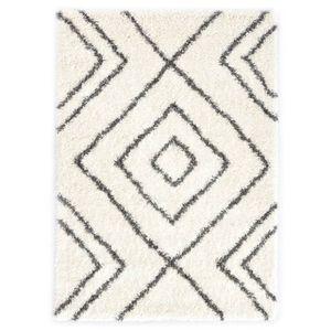 Hochflorteppich Teppich Berberteppich Hochflor PP Beige und Grau 160×230 cm