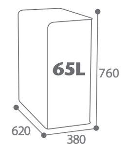 CUBATRI Abfalleimer 65L mit passgenauer Öffnung für Abfalltrennung von Rossignol, Farbe:Braun